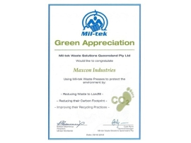 Mil-Tek Green Appreciation Award