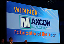 Maxcon Industries wins Fabricator of the Year Award, 2018