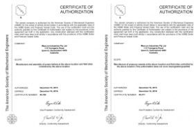 Congratulations on Re-certification of ASME Authorisations